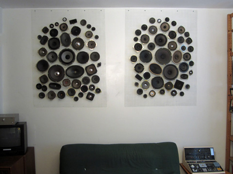 Non-electrified Speakers as decoration